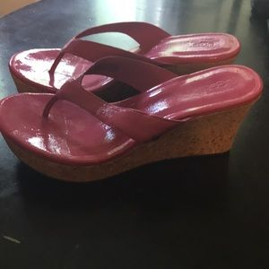 New Pink Cork Wedge Ugg Shoes / 8.5 💝